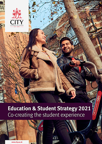 Front cover of the Education & Student Strategy document