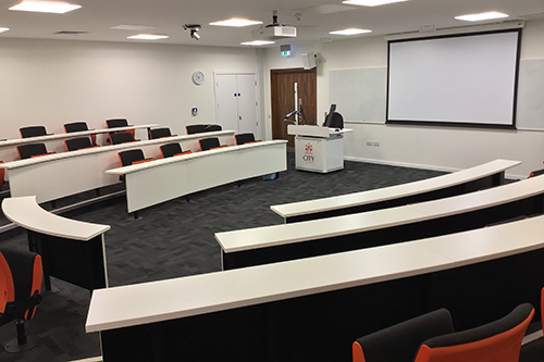View of the lecture theatre