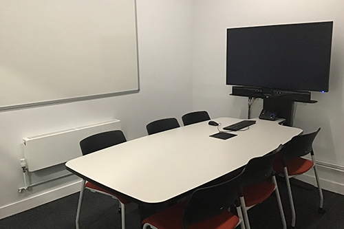 View of the group room